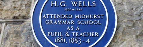Blue Plaque HG Wells